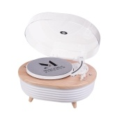 Tocadiscos de iluminación colorida Tocadiscos BT de 2 velocidades (33/45 RPM)