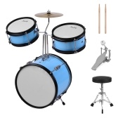 Muslady Kids Children Junior Beginners 3-Piece Drum Set Batteria Kit