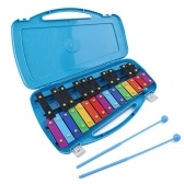 Strumenti musicali a percussione per bambini Xilofono a percussione a mano Giocattolo educativo prescolare con pianoforte a 25 toni