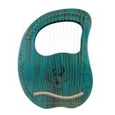 19弦木製ライアーハープレゾナンスボックス弦楽器チューニングレンチ3本ピック付き