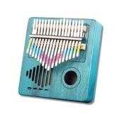 17キーコンパクトサイズ木製アコースティックサムピアノカリンバムビラ中空デザイン初心者のための絶妙な技量