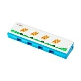 NAOMIキッズハーモニカプラスチック製ダイアトニックハーモニカ4穴8音符男の子女の子用楽器玩具1PCS