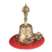 Campana buddista tibetana Campana a mano in bronzo con imbottitura Vajra per preghiera di meditazione