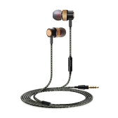 Auricolari In-Ear Premium Auricolari con filo metallico Cuffie con microfono per telefoni Windows Windows MP3 MP4 Tablet iPhone iPad