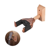 Wall Mount Ukelele Ukulele Uke Hanger Hook Holder Keeper Auto Grip System Rubber Cushion Wood Base