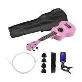21 Inch Colored Acoustic Soprano Ukulele