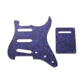 Комплект накладок для электрогитары SSS с винтами на задней пластине Защитный кожух для американских гитар в стиле ST Blue Pearl