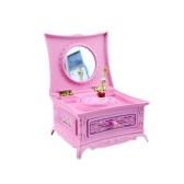 muslady Dancing Girl Music Box Table Music Jewelry Box Retro Home Decoration Gift Music Gift White