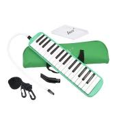 32 Piano Keys Instrument Edukacja Melodica muzyczne dla początkujących żartuje dzieci prezent z torba Zielony