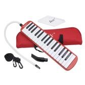 32 tasti di pianoforte Strumento Istruzione Melodica musicale per principianti bambini regalo dei bambini con il sacchetto di trasporto rosso
