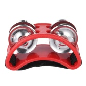 Foot Tambourine Percussion Musical Instrument 2 Sets Metal Jingle Bell