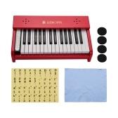 Детское музыкальное пианино, 30 клавиш, деревянные, научиться играть на пианино, музыкальный инструмент, игрушка для мальчиков и девочек