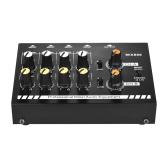 Mezclador de línea de sonido de 8 canales mono / estéreo de tamaño compacto con adaptador de corriente
