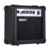 ammoon Amplificatore da 10 Watt per chitarra Amplificatore da 5 pollici per chitarra acustica / elettrica Ukulele Alta sensibilità Sensore di tono Regolazione acuti / Bassi