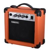 ammoonポータブル10ワットギターアンプアンプアコースティック/エレクトリックギター用5インチスピーカーウクレレ高感度ボリュームトーンコントロールトレブル/ベース調整