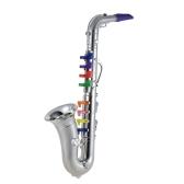 Saksofon saksofonowy zabawka instrument muzyczny prezent z 8 kolorowych kluczy dla dzieci dzieci
