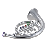 Instrumento musical Toy French Horn con 4 teclas de colores Regalo musical para niños Niños