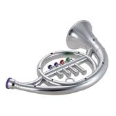 Corno francese giocattolo strumento musicale con 4 chiavi colorate regalo musicale per bambini bambini