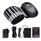 88 tasti MIDI Roll Up Piano Electronic Silicon Keyboard Altoparlante stereo incorporato Supporto per batterie agli ioni di litio 1200mA Registrazione BT Registrazione Funzioni di supporto