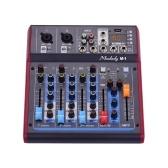 Muslady M-1 Professional 4-канальный цифровой микшерный пульт