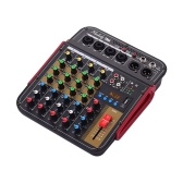 Muslady TM4 Digital 4-Channel Audio Mixer Mixing Console Built-in 48V Phantom Power
