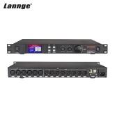 Lannge A-808 Цифровой аудиопроцессор с 8 входами и 8 выходами с сенсорным ЖК-дисплеем 32-битный DSP с USB-интерфейсом RS232 Компьютерный интерфейс 1U для монтажа в стойку