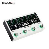 MOOER PREAMP LIVE Professioneller digitaler Preamp-Pedal-Vorverstärker12 Kanäle Pre & Post Booster 3-Band-EQ-Lautsprecherboxsimulation mit MIDI IN / OUT XLR-Ausgang