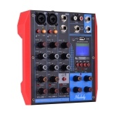 Muslady AG-4 Portable 4-Channel Mixing Console Digital Audio Mixer +48V Phantom Power Supports BT/USB/MP3 Connection