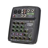 Tela LED do console de mixagem Muslady 4 canais de áudio