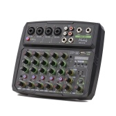 Tela LED Muslady 6 Channel Mixer Mixer Console LED