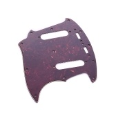 3 Ply PVC Electric Guitar Pickguard with 2 Single Coil Pickup Hole for Fender Mustang MG69  Guitar Replacement Part Black