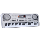 "21"" 61 Keys LED Electronic Keyboard Music Toy with Microphone Educational Electone Christmas Gift for Children Kids"