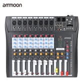 ammoon CT80S-USB 8 Channel Digital Mic Line Audio Mixing Mixer Console with 48V Phantom Power for Recording DJ Stage Karaoke Music Appreciation