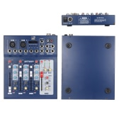 andreagiallorosso F4-USB 3 canale Mic Line Audio Mixer Console di missaggio digitale con alimentazione Phantom 48V per registrazione DJ fase Karaoke musica apprezzamento