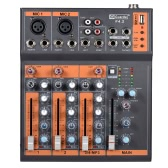 Portable 4-Channel Mic Line Audio Mixer