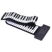 Portable Silicon 88 Keys Hand Roll Up Piano Electronic USB Keyboard Built-in Li-ion Battery and Loud Speaker with One Pedal