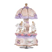 Luxury Dream 3-Horse Rotating Carousel Carillon di giostra musicale