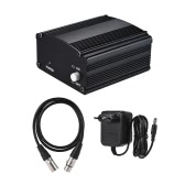 1-Channel 48V Phantom Power Supply with Adapter & XLR Male to XLR Female Audio Cable