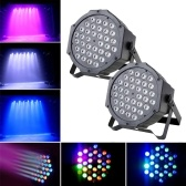 LED Stage Light Lampada RGB PAR Luci 36pcs LED 36W Sound-attivato Auto DMX512 Disco Light per DJ Party Wedding Club Pub KTV, confezione da 2 luci