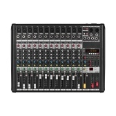 12-Channel Mixer Mixing Console Built-in 48V Phantom Power Supply 16 DSP Effects