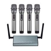 Muslady F4800 Professional 4-Kanal-UHF-Funkmikrofonsystem