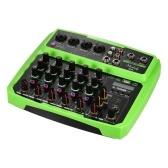Console de mixage USB Muslady B6 Portable 6 canaux Audio Mixer