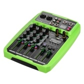 Muslady B4-MX Portable 4-Channel Sound Card Mixing Console Audio Mixer