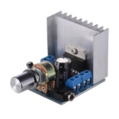 ステレオ2.0オーディオアンプモジュール15W + 15Wデュアルチャンネルミニアンプボード増幅DIYサーキットボードヒートシンク付き