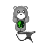 Cute Cartoon Bear Clip-On Tuner LCD Display for Guitar Chromatic Bass Ukulele Violin