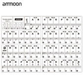 ammoon Piano Keyboard Stickers for 37/ 49/ 61/ 88 Key Keyboards Removable Transparent for Kids Beginners Piano Practice Learning