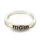 Anillos simples y de moda con letras de MOM Love Present Gift for Mother
