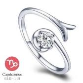 12 constelaciones exquisito reluciente retro amantes anillo mujeres antiguo elegante atractivo atractivo aleacion de zinc anillo