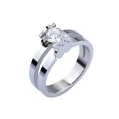 Mignon petit ours anneau embarque CZ diamant 316L titane acier à la mode femmes bijoux décorations