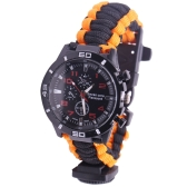 5 in 1 Outdoor Survival Watch Paracord Bracelet with Compass/Fire Starter/Whistle/Paracord Emergency Survival Tool Kits